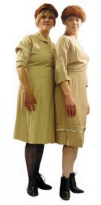40s khaki and beige women