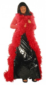 Black Long PVC Gown