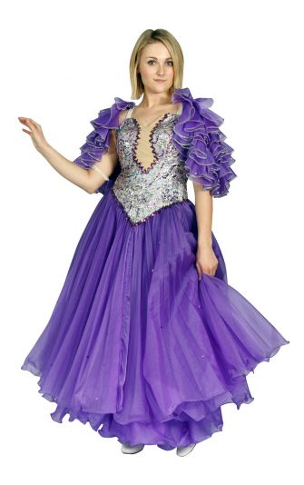 Ballroom purple gown