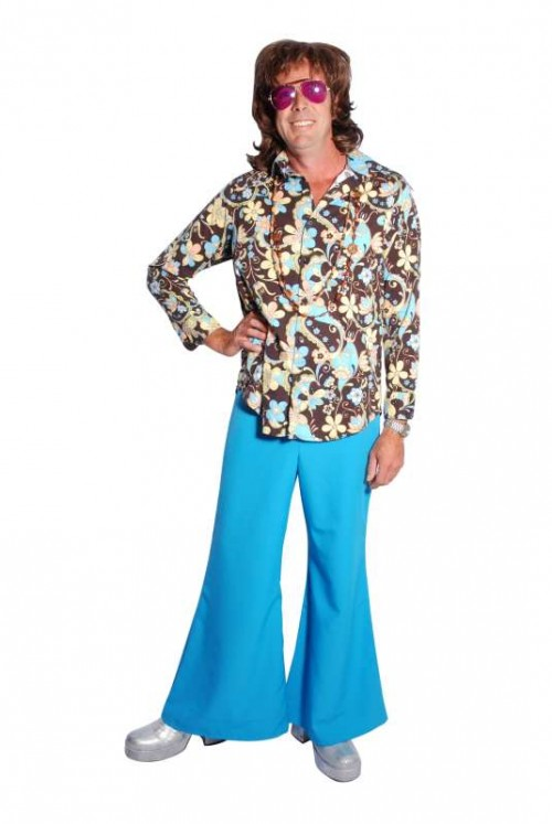 Brown_Blue_Floral_Shirt__Blue_Flares