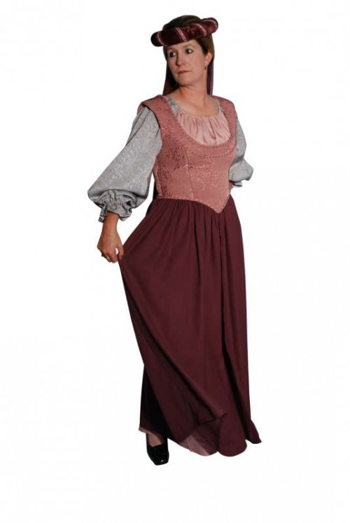 Burgundy_Grey_Medieval_Dress