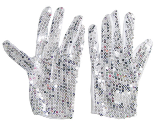 GloveSequinWhiteN29520S