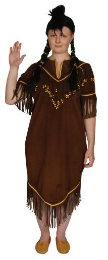 Indian dark brown squaw dress