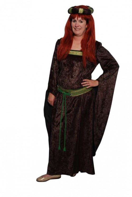 Medieval_Bell_Sleeve_Green_Velvet