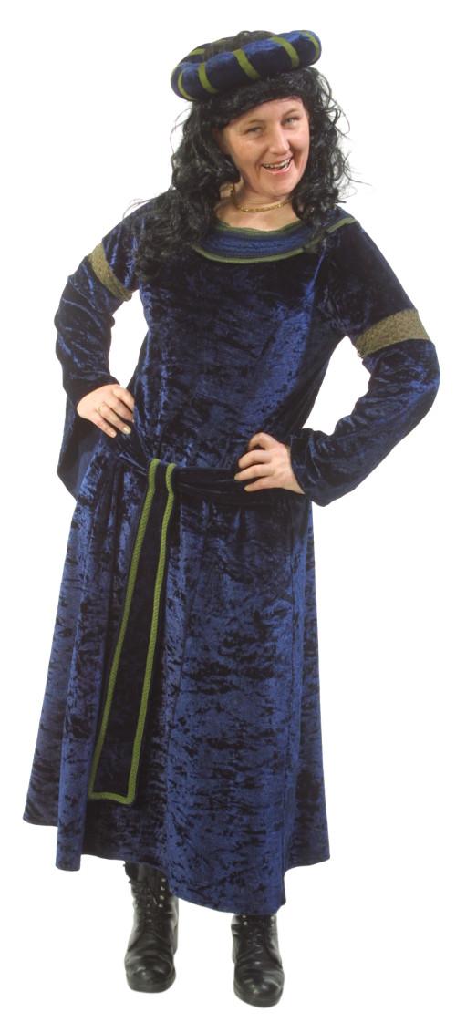 Medieval_Blue_Velvet_Dress