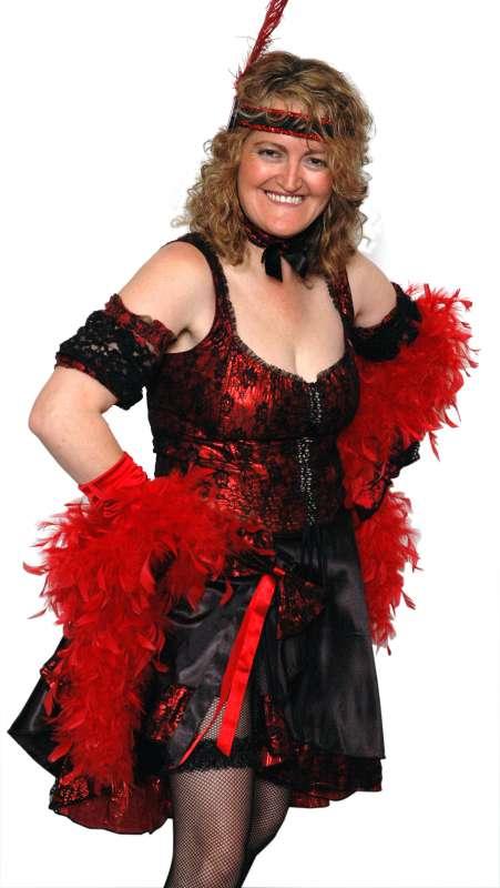 Saloon_Red_Black_Skirt_Corset_Set