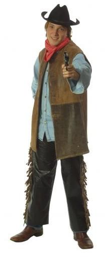 cowboy leather vest black chaps
