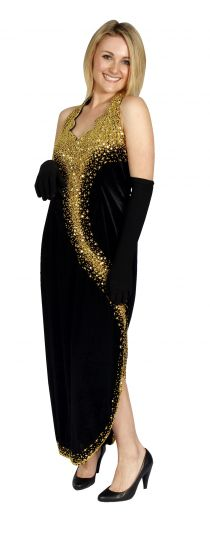 evening dress black
