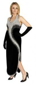evening dress silver sequin