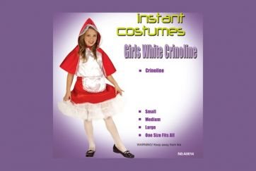 girls white crinoline