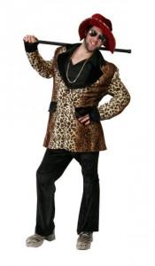 leopard print velvet pimp suit