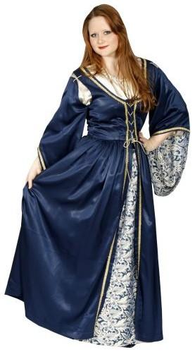 medieval navy blue lady