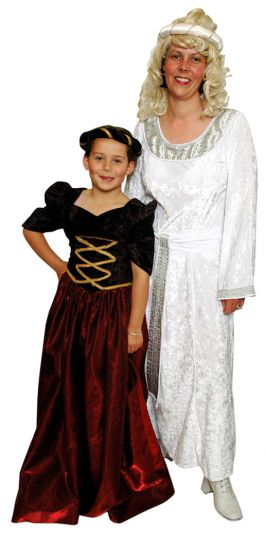 medieval white and silver dress