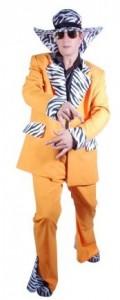 orange zebra trim pimp suit