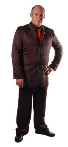 pimp red stripe black pinstripe suit