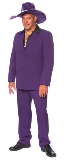 purple pimp with hat