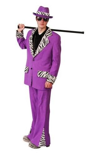 purple zebra pimp suit