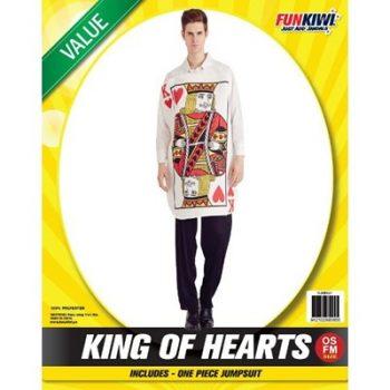 Man wearing King Of Hearts costume